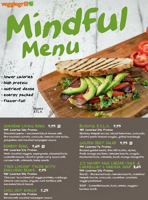 mindful menu